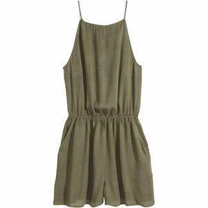 H & M | Olive Green Romper/Playsuit